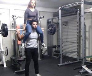 Упражнения дня: используй девушку в качестве снаряда для тренировки